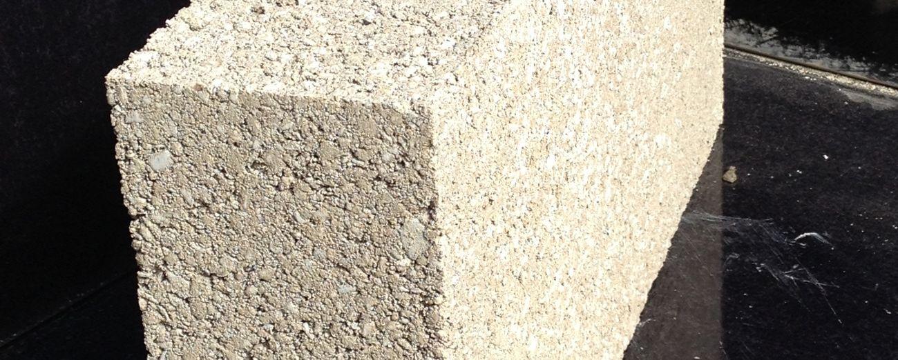 100mm Solid Concrete Block - Banner