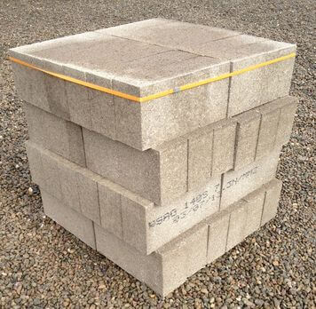 140mm Solid Concrete Block 48 Pack
