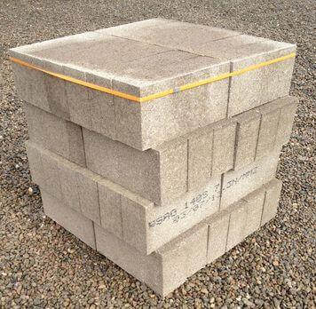 140mm Solid Concrete Block 48 Pack