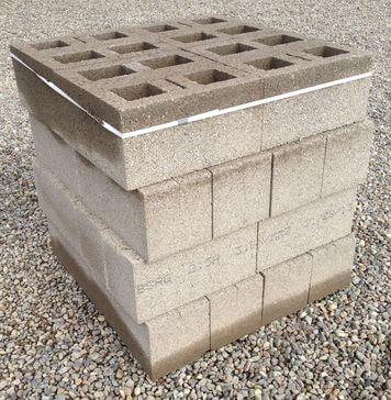 215mm Hollow Concrete Blocks 32 Pack